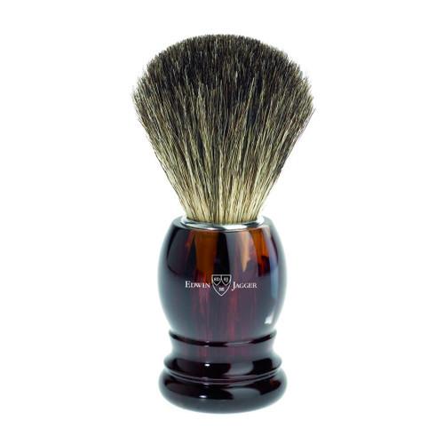 Edwin Jagger Pure Badger Hair Imitation Tortoise Shell Shaving Brush