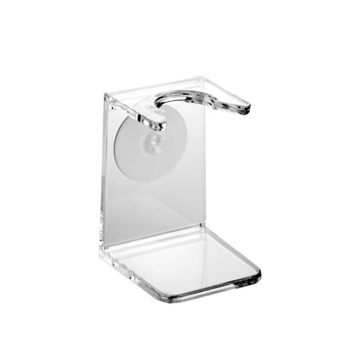 Edwin Jagger Clear Plastic Small Neck Shaving Brush Stand
