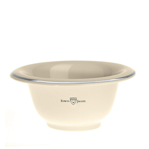 EDWIN JAGGER Ivory Porcelein Shaving Soap Bowl with Silver Rim