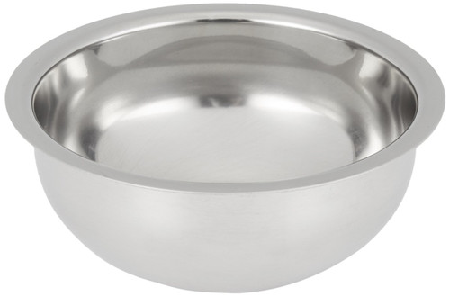 Edwin Jagger Polished Stainless Steel Shaving Soap Bowl
