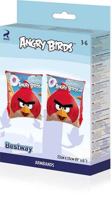 Bestway ANGRY BIRDS Swimming Swim Aid Inflatable Arm Band Kids Floaties