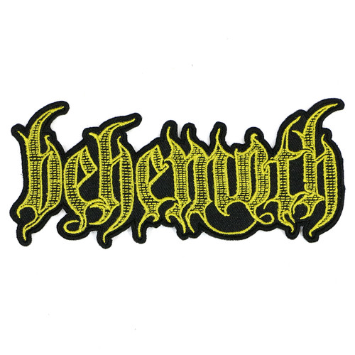 "Behemoth Engraved Logo Patch 5"" x 5.25"""