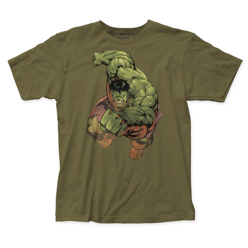 Marvel Incredible Hulk Punch Slim-Fit T-Shirt Military Green