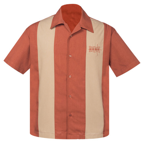 Steady Clothing Simple Times Bowling Shirt Rust