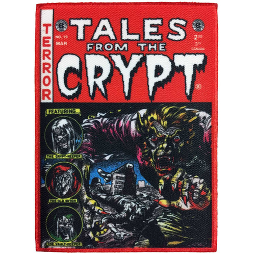 Kreepsville 666 Tales From The Crypt Red Comic Embroidered Patch