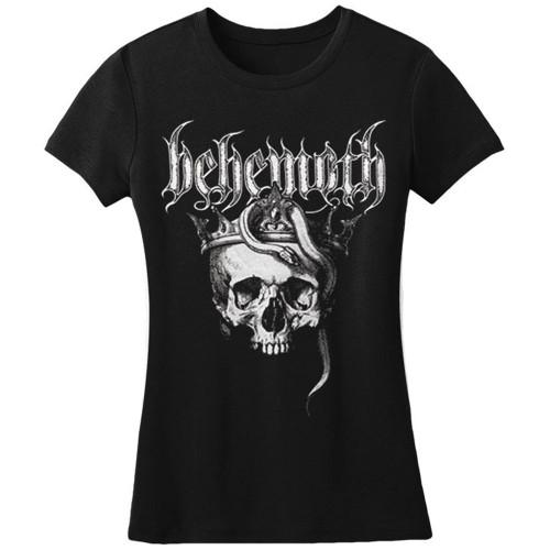 Behemoth Women's Skull Amerika Blasfemia 2016 Tour T-Shirt