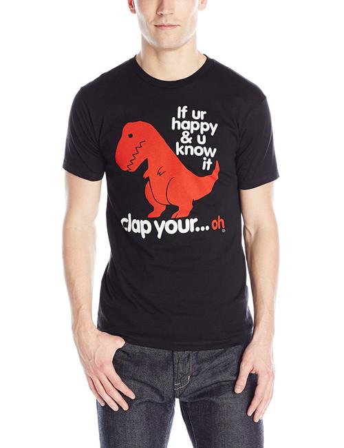 Goodie Two Sleeve Sad T-Rex Slim-Fit T-Shirt