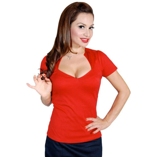 Steady Clothing Women's Sophia Top Shirt Red