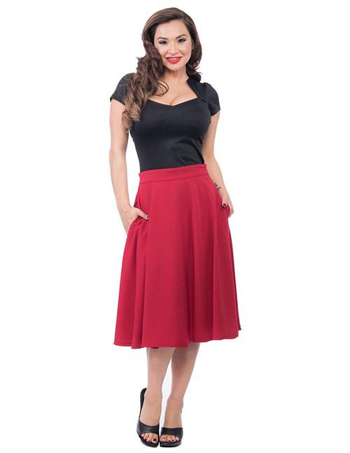Steady Clothing Women's Pocket Thrills High Waist Skirt Red