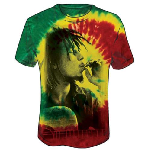 Bob Marley Rasta Smoke Tie Dye T-Shirt
