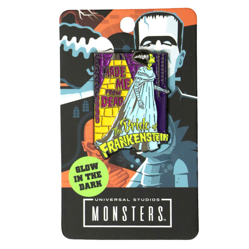 Universal Made Me From Dead Bride Glow In The Dark Enamel Pin