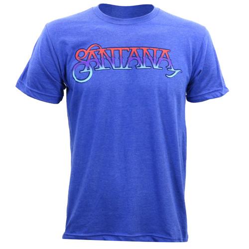 Santana Ombre Logo  Slim-Fit T-Shirt Heather Royal