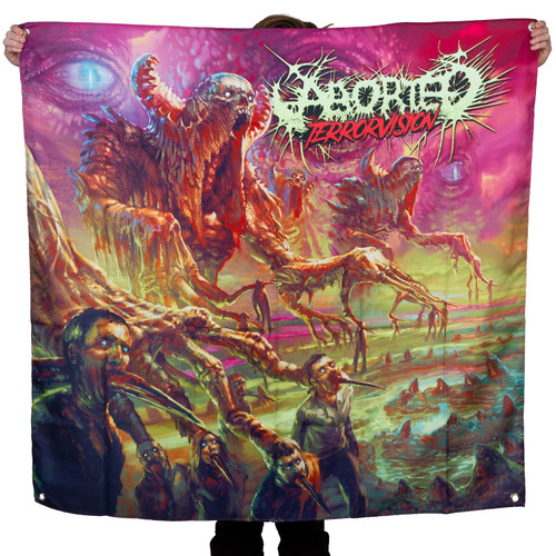 """Aborted Terrorvision Fabric Poster 48"""" x 48"""""""