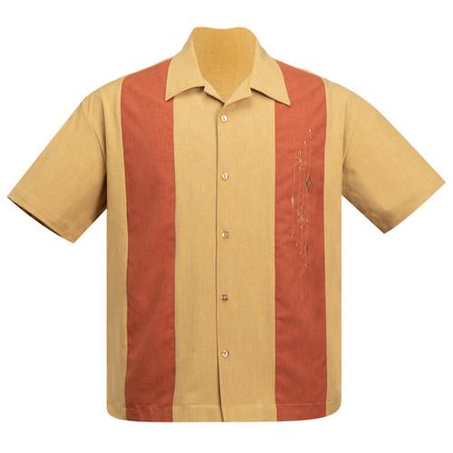 Steady Clothing Mid Century Marvel Bowling Shirt Mustard