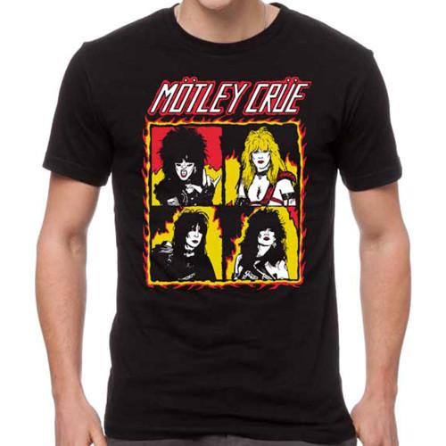 Motley Crue Shout At The Devil Flames T-Shirt