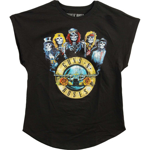 Guns N Roses Bullet Band Juniors Sleeveless T-Shirt
