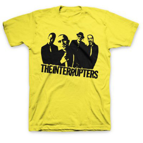 The Interrupters Yellow Band Photo Slim-Fit T-Shirt Yellow