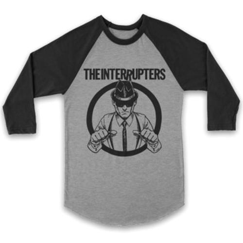 The Interrupters Suspenders Raglan T-Shirt Black Heather