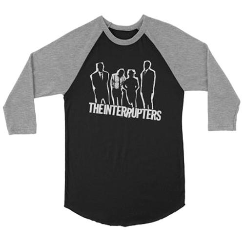 The Interrupters Silhouette Raglan T-Shirt Grey Black