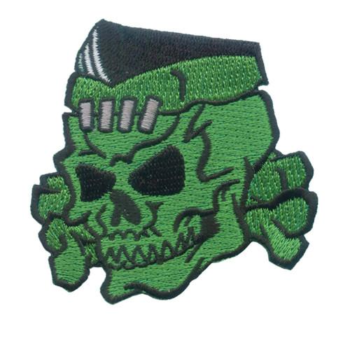 Kreepsville 666 Psycho Stitched Skull Embroidered Patch
