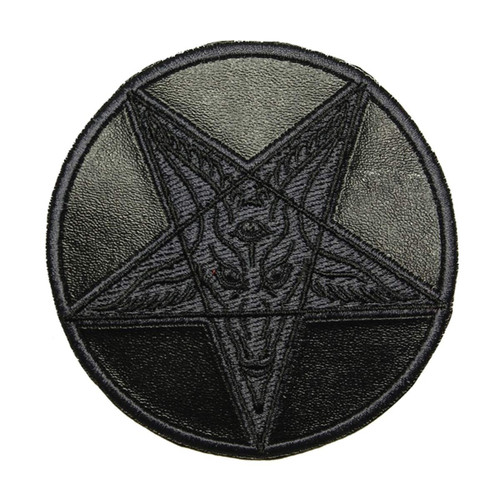 Kreepsville 666 Satanic Circle Shiny Black Embroidered Patch