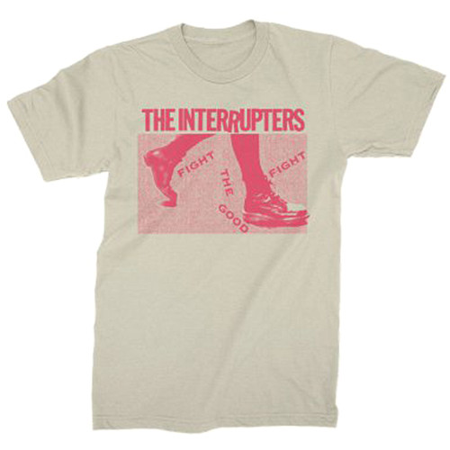 The Interrupters Boots Slim-Fit T-Shirt Natural