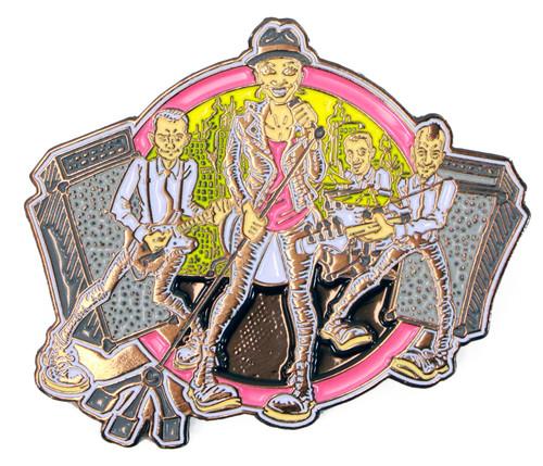 The Interrupters Cartoon Band Enamel Pin