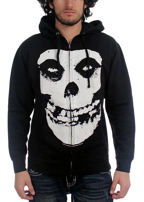 Misfits Zipup Hoodie - Oversized Skull Logo