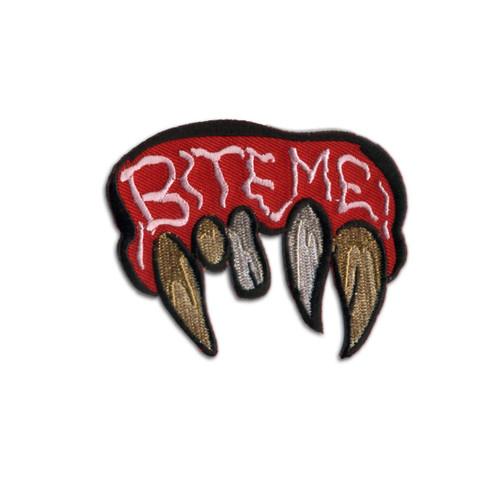 Retro A Go Go Bite Me Embroidered Patch