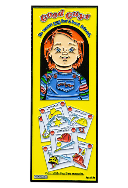 Childs Play 2 Good Guys Box Enamel Pin