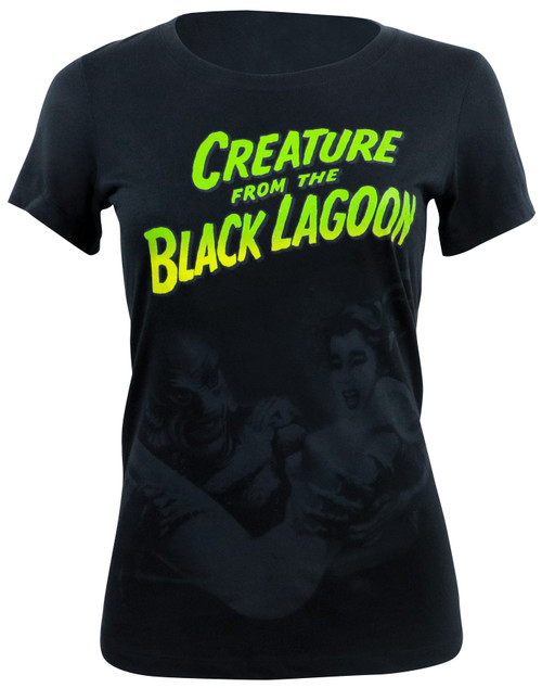 Universal Monsters Junior's Creature with Woman T-Shirt