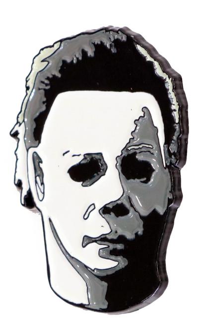 Halloween Michael Myers Tilted Head Enamel Pin