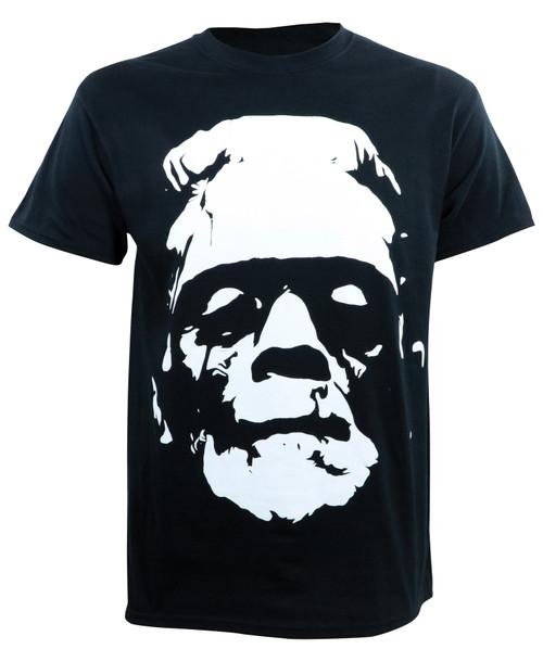 Universal Monsters Black & White Frankenstein Head T-Shirt