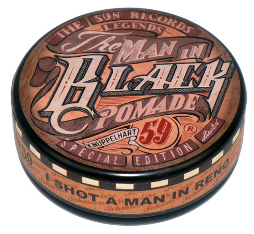 Rumble 59 Schmiere The Man In Black Strong Hold Oil Based Pomade 4.7oz