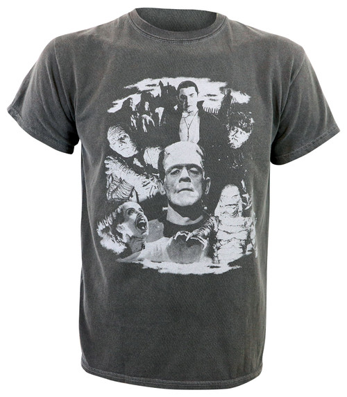Universal Monsters Collage Vintage Distressed T-Shirt