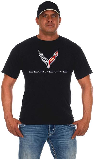 JH Design Chevy Corvette C8 Series Logo T-Shirt