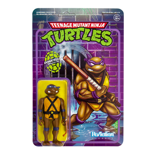 """Super7 Teenage Mutant Ninja Turtles Donatello ReAction Figure 3.75"""""""