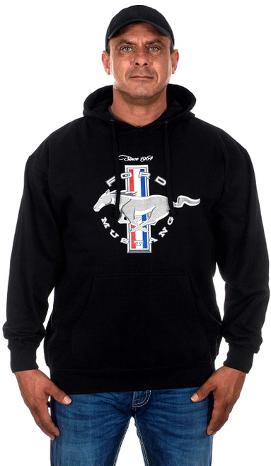 JH Design Ford Mustang Basic Logo Pull Over Hoodie