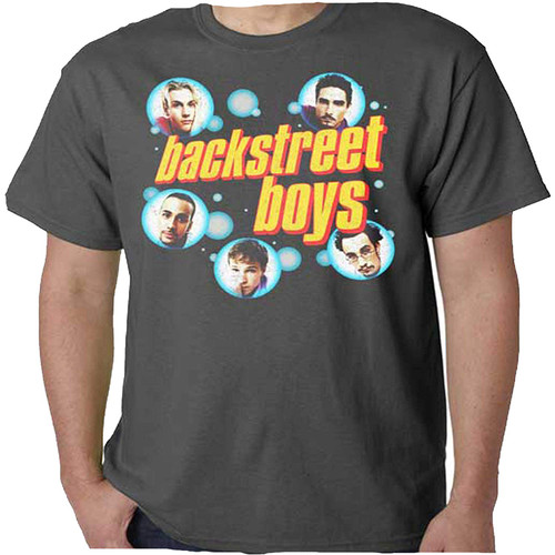 Men's Backstreet Boys Bubbles Soft Slim Fit T-Shirt Charcoal