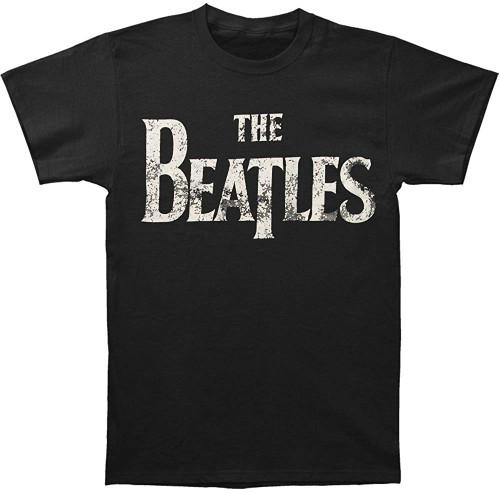 Beatles Distressed Logo Slim Fit T-Shirt