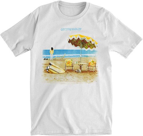 Neil Young On The Beach Slim Fit T-Shirt