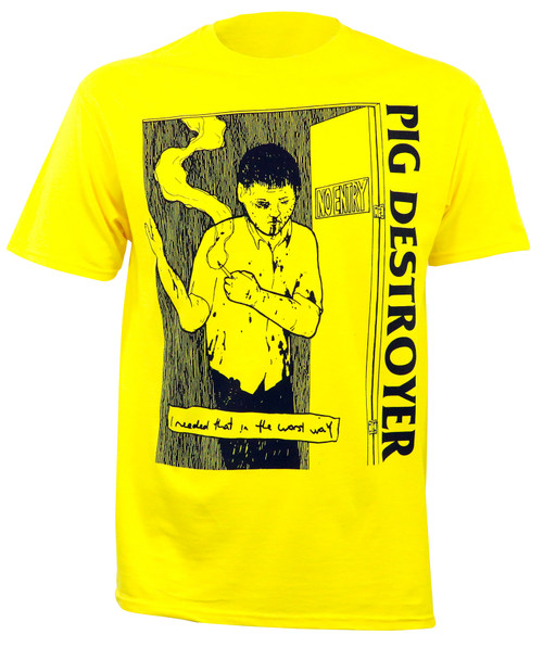 Pig Destroyer I Needed That T-Shirt Yellow