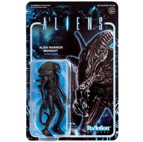 "Super7 Aliens ReAction Alien Warrior A Midnight Black Action Figure 3.75"""