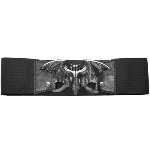 Kreepsville 666 Bat Elastic Waist Belt Silver