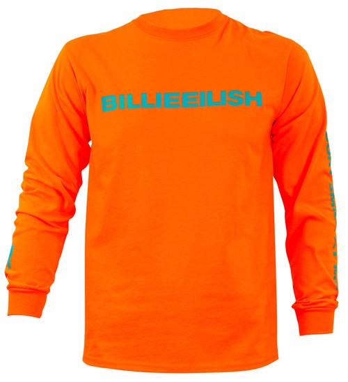 Billie Eilish Don't Smile at Me Long Sleeve Orange T-Shirt