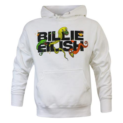 Billie Eilish UO Exclusive Logo White Hoodie