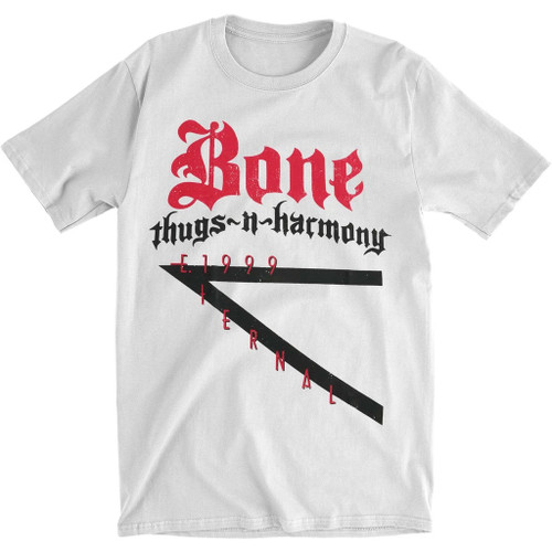 Bone Thugs-N-Harmony Men's E 1999 Logo T-Shirt White