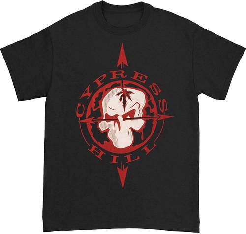 Cypress Hill Men's Skull & Compass Slim-Fit T-Shirt