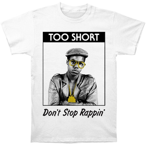 Too Short Men's Rappin' Slim-Fit White T-Shirt