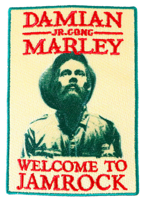 Damian Marley Welcome to Jamrock Sew Glue Iron On Patch